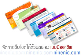 ninenic เว็บไซต์สำเร็จรูปพร้อม web hosting